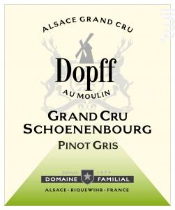 Pinot Gris Grand Cru Schoenenbourg - Dopff Au Moulin - 2018 - Blanc