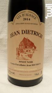 Pinot Noir - Cuvée Parcellaire - Dietrich Jean & Fils - 2017 - Rouge