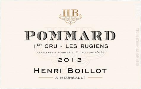 Pommard Premier Cru Les Rugiens - Maison Henri Boillot - 2013 - Rouge