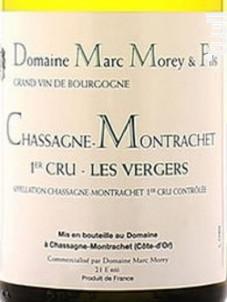 CHASSAGNE MONTRACHET 1er cru Vergers - Domaine Marc Morey - 2017 - Blanc