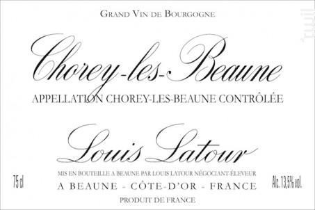 CHOREY-LÈS-BEAUNE - Maison Louis Latour - 2015 - Rouge