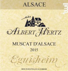 Muscat d'Alsace - Albert Hertz - 2015 - Blanc