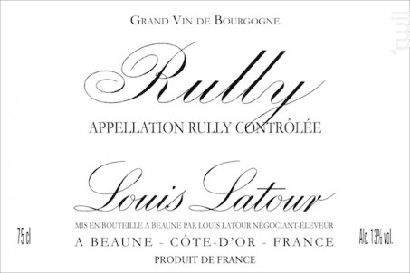 RULLY - Maison Louis Latour - 2015 - Rouge