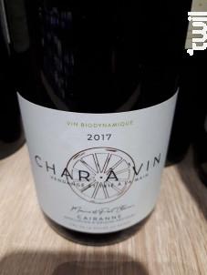 Char à Vin Cairanne - Domaine des Coteaux des Travers - 2017 - Rouge