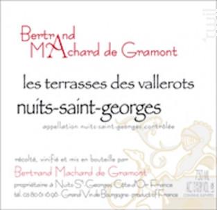 Nuits-Saint-Georges Les Terrasses des Vallerots - Domaine Machard de Gramont - 2013 - Rouge