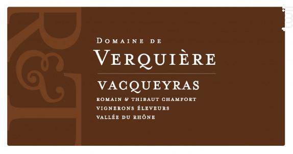 Vacqueyras - Domaine de Verquière - 2018 - Rouge