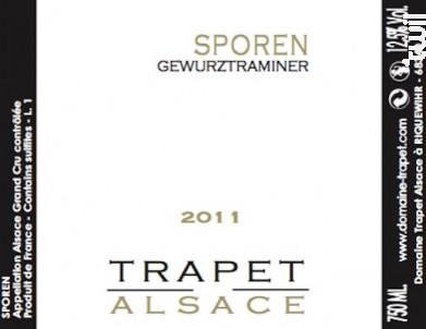 Sporen Grand Cru Gewurztraminer - Domaine Trapet Alsace - 2009 - Blanc