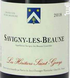 Savigny-lès-Beaune - Les Héritiers Saint-Genys - 2018 - Rouge