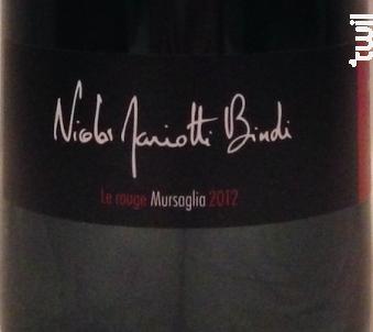 Mursaglia Rouge - NICOLAS MARIOTTI BINDI - 2013 - Rouge