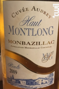 Cuvée Audrey - Domaine Haut Montlong - 2003 - Blanc