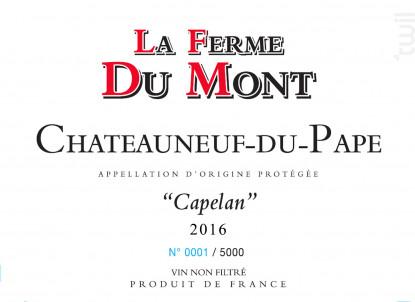 Capelan - La ferme du Mont - 2013 - Rouge