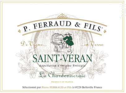 Saint Véran - La Chardonneraie - P. Ferraud & Fils - 2015 - Blanc