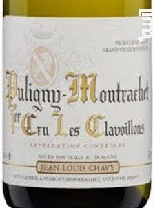 Puligny-Montrachet - 1er Cru Les Clavoillons - Jean Louis Chavy - 2016 - Blanc