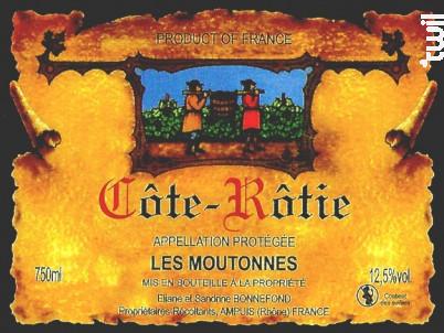 Les Moutonnes - Domaine Bonnefond Eliane - 2016 - Rouge