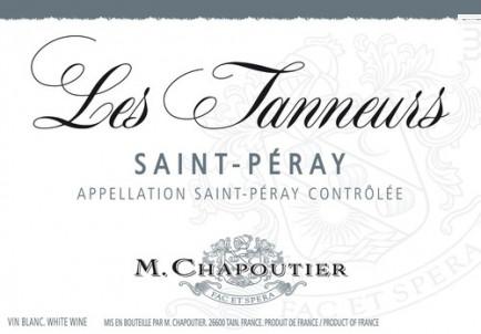 Les Tanneurs - Maison M. Chapoutier - 2016 - Blanc