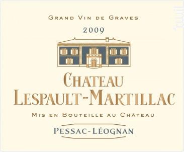 Château Lespault-Martillac - Domaine de Chevalier - 2009 - Blanc