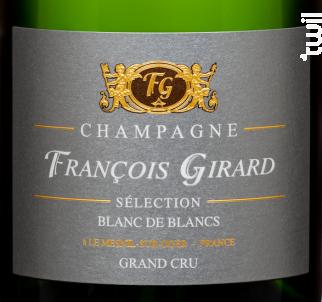 Sélection Blanc de Blancs Grand Cru - Champagne François Girard - Non millésimé - Effervescent