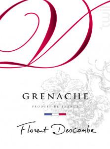 GRENACHE - Vins Descombe - Non millésimé - Rouge