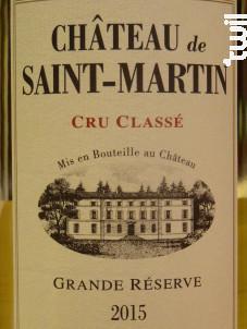 Grande Reserve - Château de Saint-Martin - 2018 - Blanc