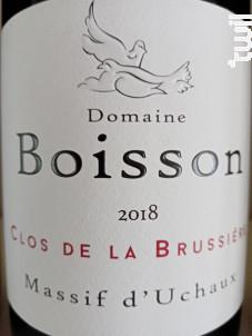 Clos de la Brussiere - Domaine Boisson - 2018 - Rouge