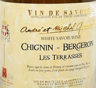 Les Terrasses - Andre Et Michel Quenard - 2016 - Blanc