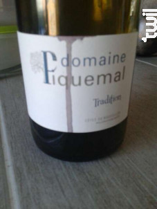 Tradition - Domaine Piquemal - 2015 - Rouge