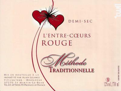 Méthode Traditionnelle Demi-sec - Domaine de L'Entre-Coeurs - Alain Lelarge - Non millésimé - Rouge