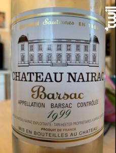 Château Nairac - Château Nairac - 1999 - Blanc