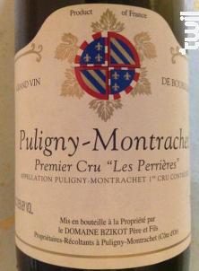 Puligny-Montrachet 1er Cru Les Perrières - Domaine Bzikot - 2018 - Blanc