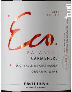 Eco balance – Carmenere - Emiliana - 2016 - Rouge