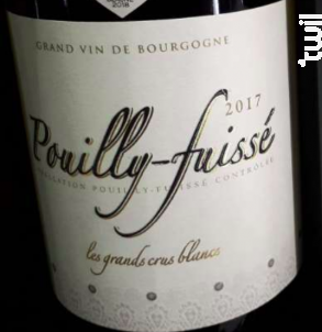 Pouilly-Fuissé - Cave des Grands crus blancs - 2017 - Blanc