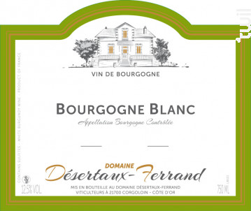 Bourgogne Chardonnay - Domaine Désertaux-Ferrand - 2013 - Blanc