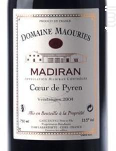 Coeur de Pyren - Domaine de Maouries - 2015 - Rouge