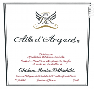 AILE D'ARGENT - Château Mouton Rothschild - 2015 - Blanc