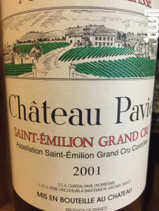 Château Pavie - Château Pavie - 2001 - Rouge