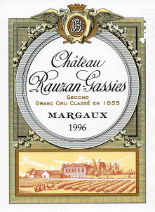 Château Rauzan-Gassies - Château Rauzan-Gassies - 1983 - Rouge