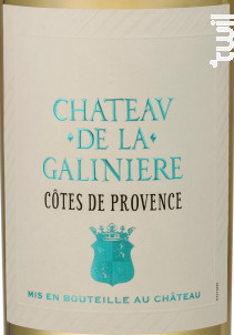 Château de la Galinière - Château de la Galinière - 2019 - Blanc