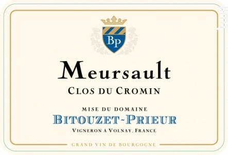 Meursault Clos du Cromin - Domaine Bitouzet-Prieur - 2014 - Blanc