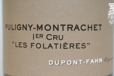 Puligny-Montrachet Premier Cru Les Folatières - Domaine Dupont-Fahn - 2018 - Blanc
