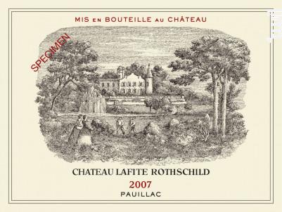 Château Lafite Rothschild - Domaines Barons de Rothschild - Château Lafite Rothschild - 2007 - Rouge