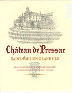 Château de Pressac - Château de Pressac - 2018 - Rouge