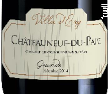 Châteauneuf-du-Pape - Grande Récolte - Villa d'Erg - 2014 - Rouge