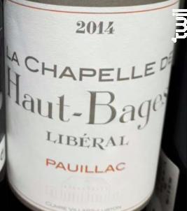 La Chapelle de Haut-Bages Libéral - Château Haut-Bages Libéral - 2014 - Rouge