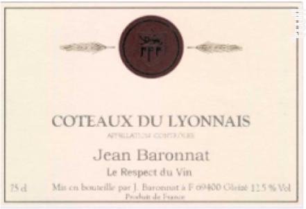 Coteaux du Lyonnais - Baronnat Jean - 2016 - Blanc