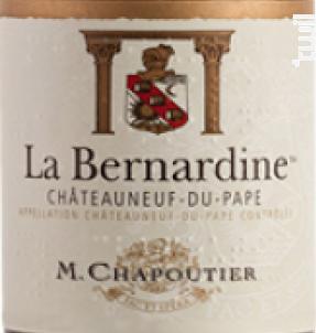 La Bernardine - Maison M. Chapoutier - 2016 - Rouge