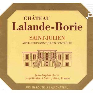 Château Lalande Borie - Château Lalande Borie - 2014 - Rouge