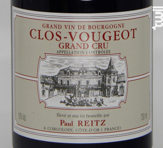 Clos Vougeot Grand Cru - Maison Paul Reitz - 2004 - Rouge