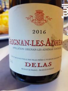 Grignan-Les-Adhémar - Maison Delas - 2016 - Rouge