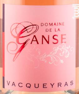 Vacqueyras Rosé - Domaine de La Ganse - 2018 - Rosé