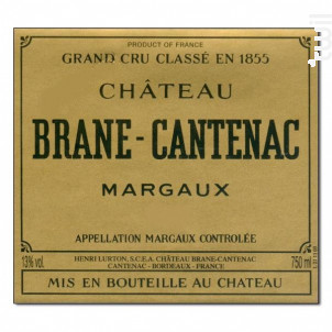 Château Brane Cantenac - Château Brane Cantenac - 2009 - Rouge